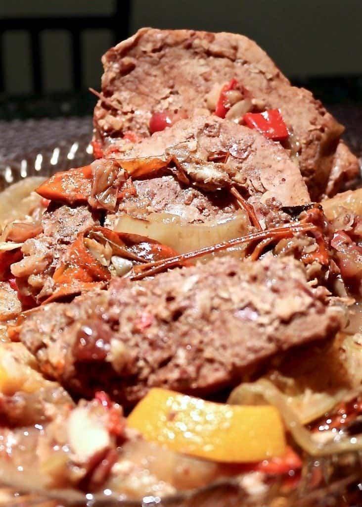 Crockpot Cranberry-Raspberry Chipotle Pork Roast