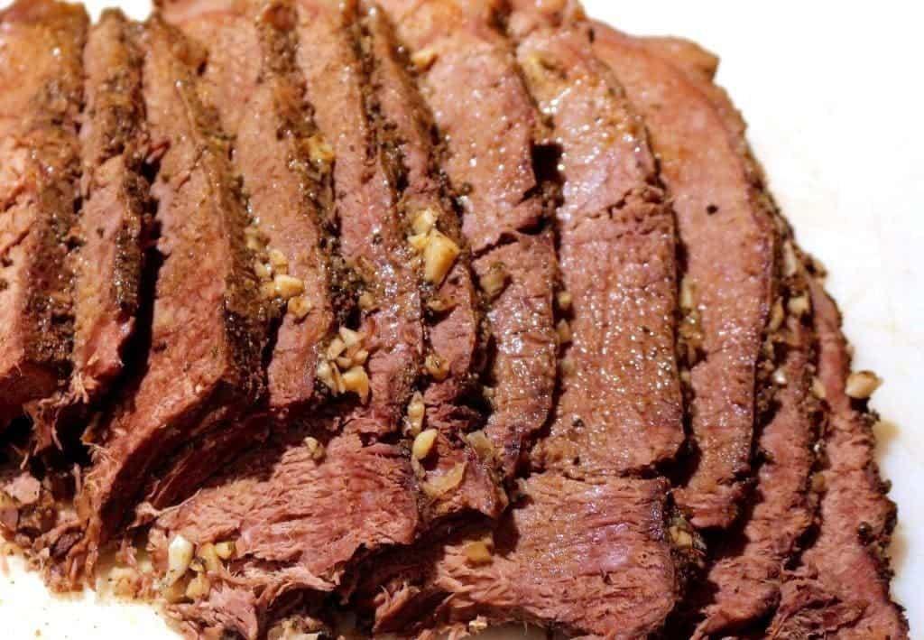 Crock Pot French Dip Sandwich roast.Tender meat full of spicy flavor.