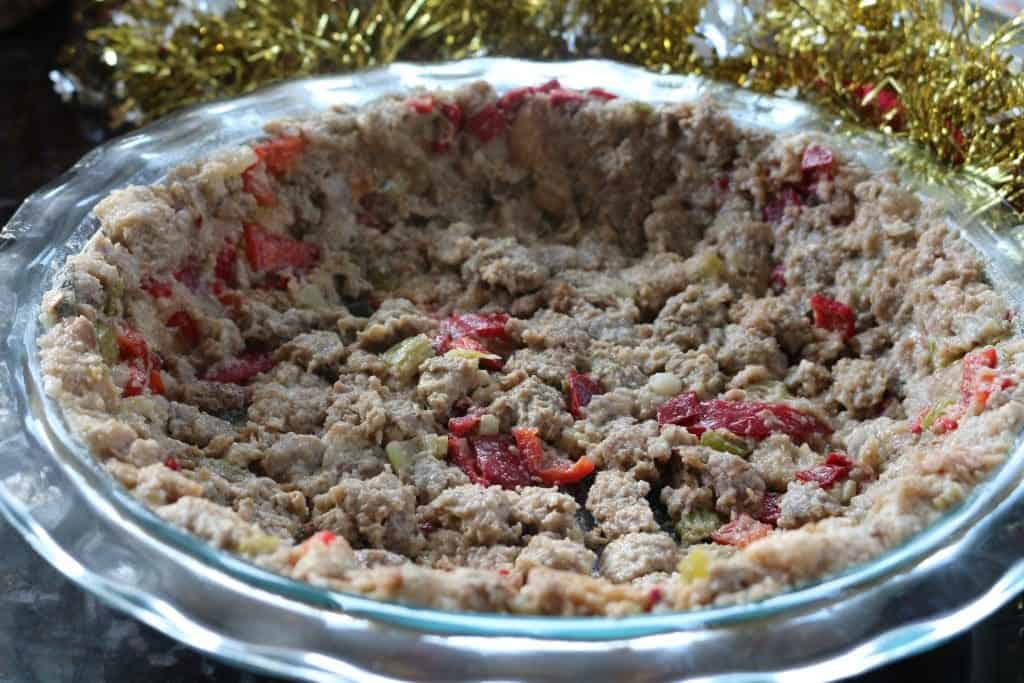 Stuffing Pie Crust
