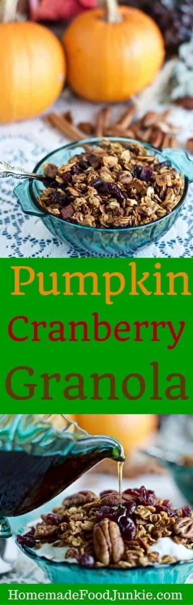 Pumpkin Cranberry Granola