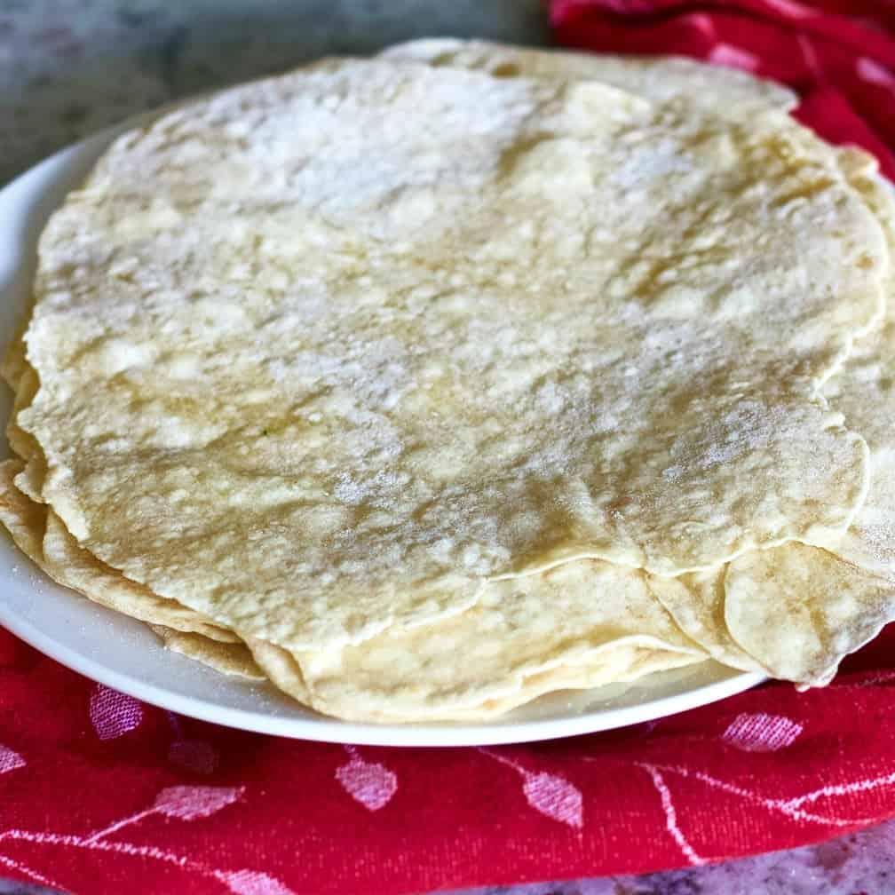 Homemade Flour Tortilla Recipe with