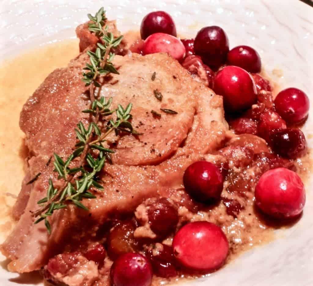 Crock Pot Cranberry Dijon Pork Roast