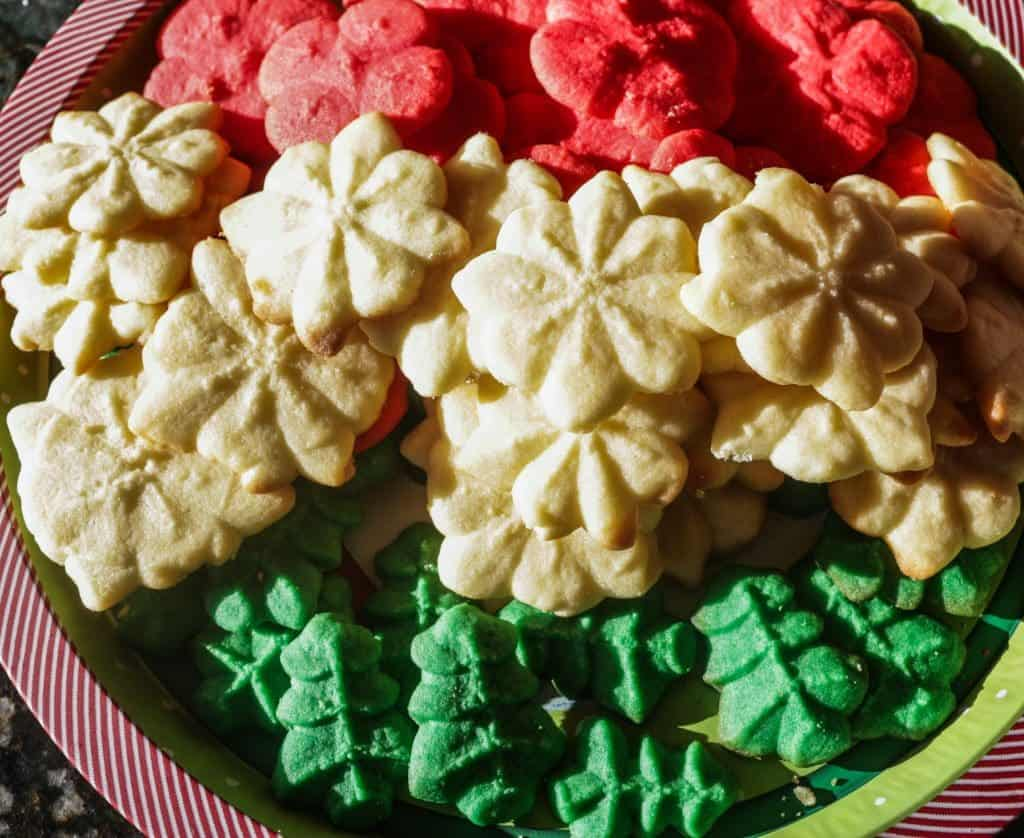 Pressed spritz cookies