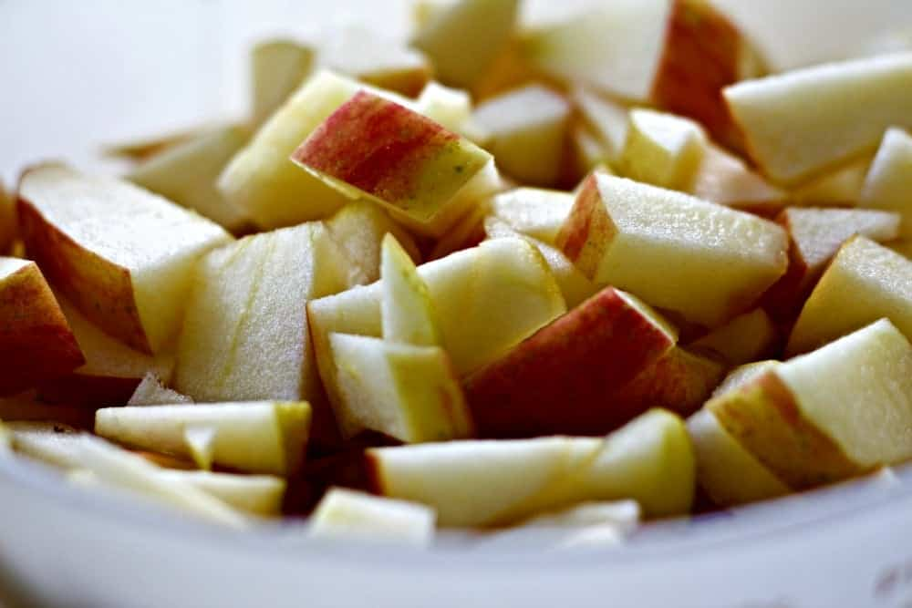 Chopped Apples for Apples Medley Salad