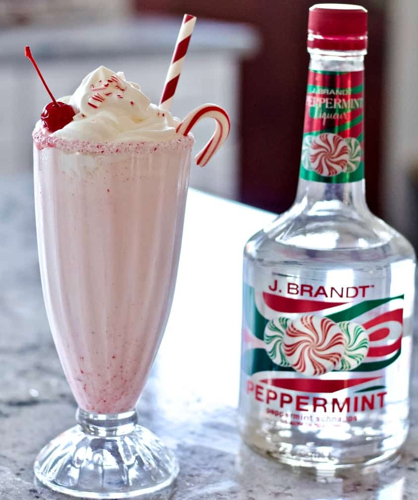 peppermint shake with schnapps