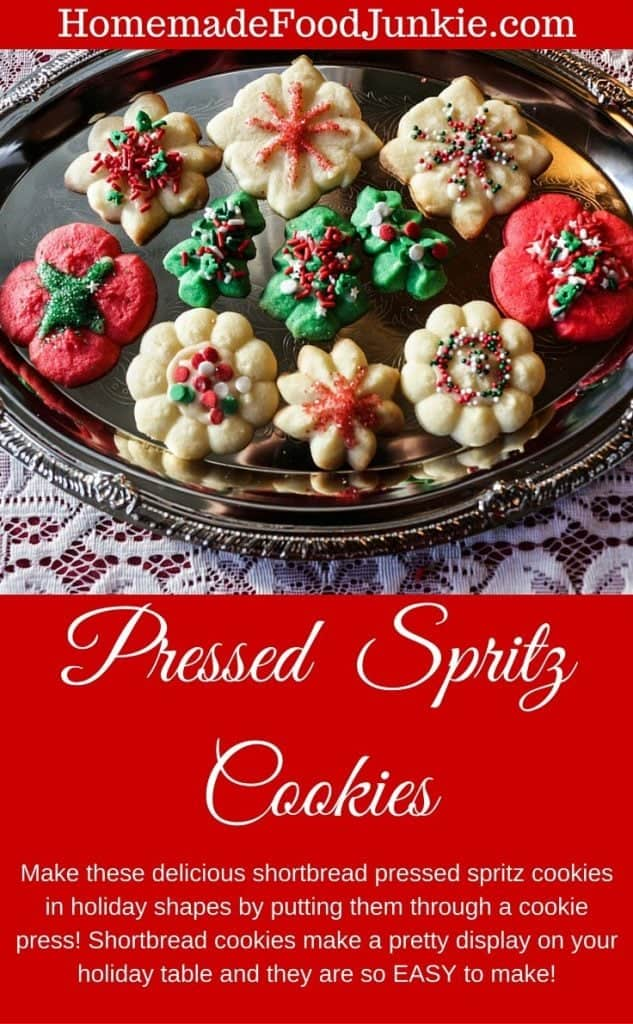 Pressed Spritz Cookies cute, easy, delicious. Perfect for a holiday table!