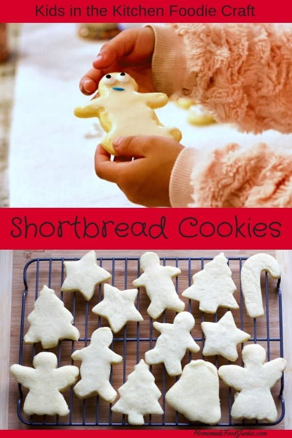 Shortbread cookie recipe foodie craft. #kidsinthekitchen #holidaycookies #cookierecipe #shortbread #shortbreadrecipe #christmascookies #thanksgivingmenu