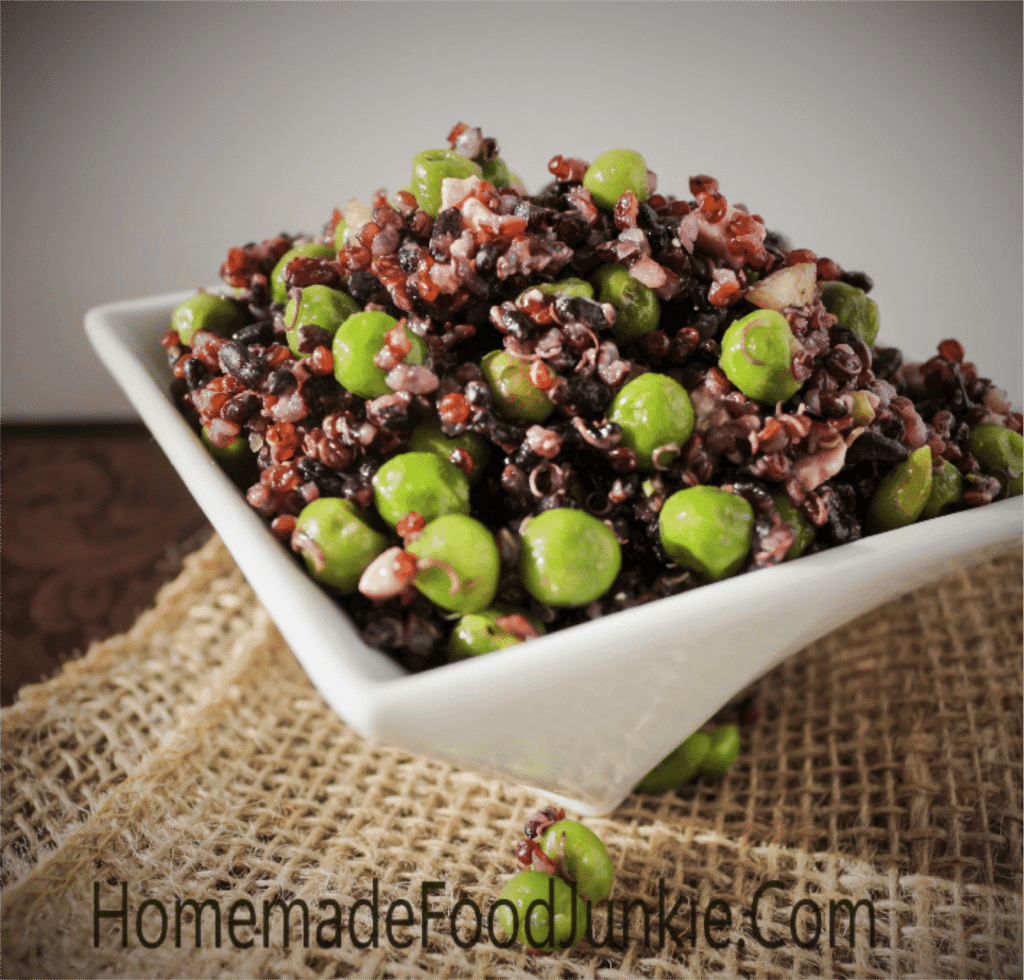 Black Rice Quinoa Pea Salad
