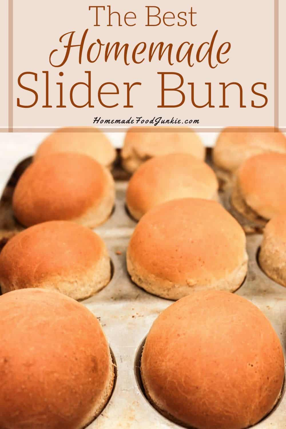 The best homemade slider buns-pin image