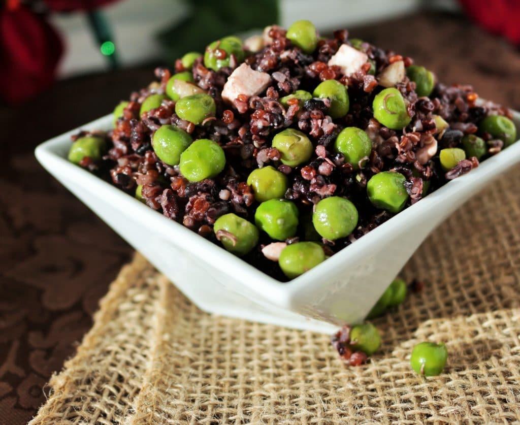 Black Rice Quinoa pea salad