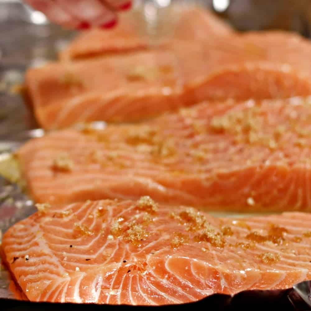 Prepping Easy Baked Salmon