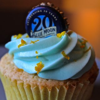Homemade Blue Moon Cupcakes