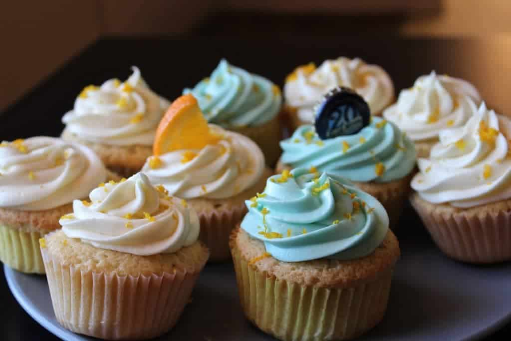 Homemade Blue Moon Cupcakes are delicious.http://Homemadefoodjunkie.com