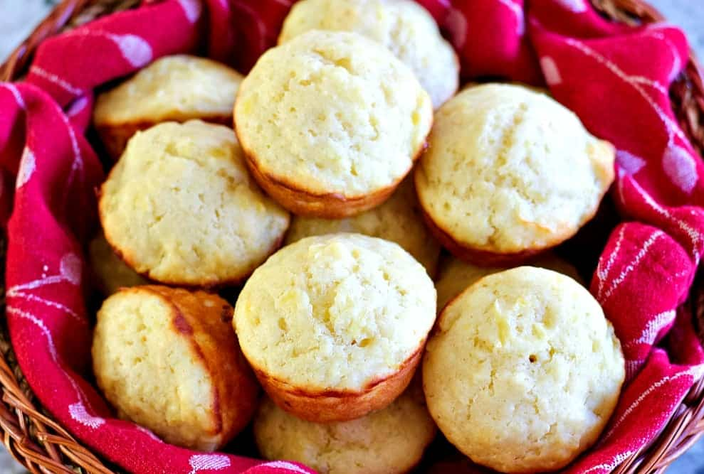 Pineapple Muffins In A Basket