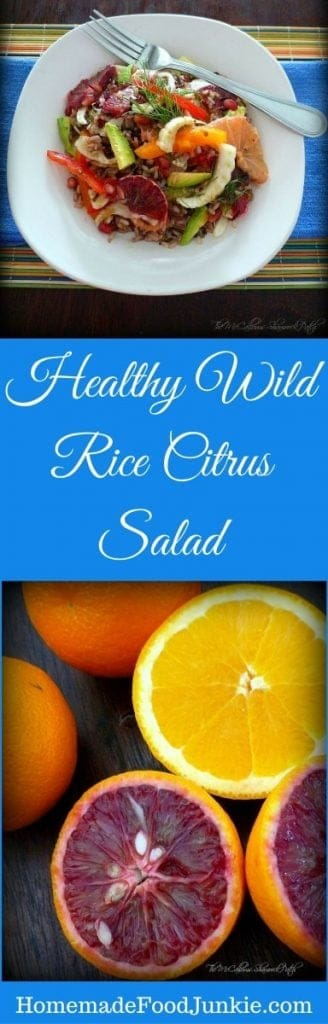Healthy Wild Rice Citrus Salad Is Vegan, Gluten-Free, Dairy-Free, Vegetarian And Absolutely Delicious!!