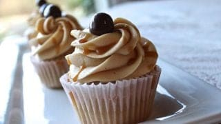 Coffee Cupcakes Salted Caramel Frosting