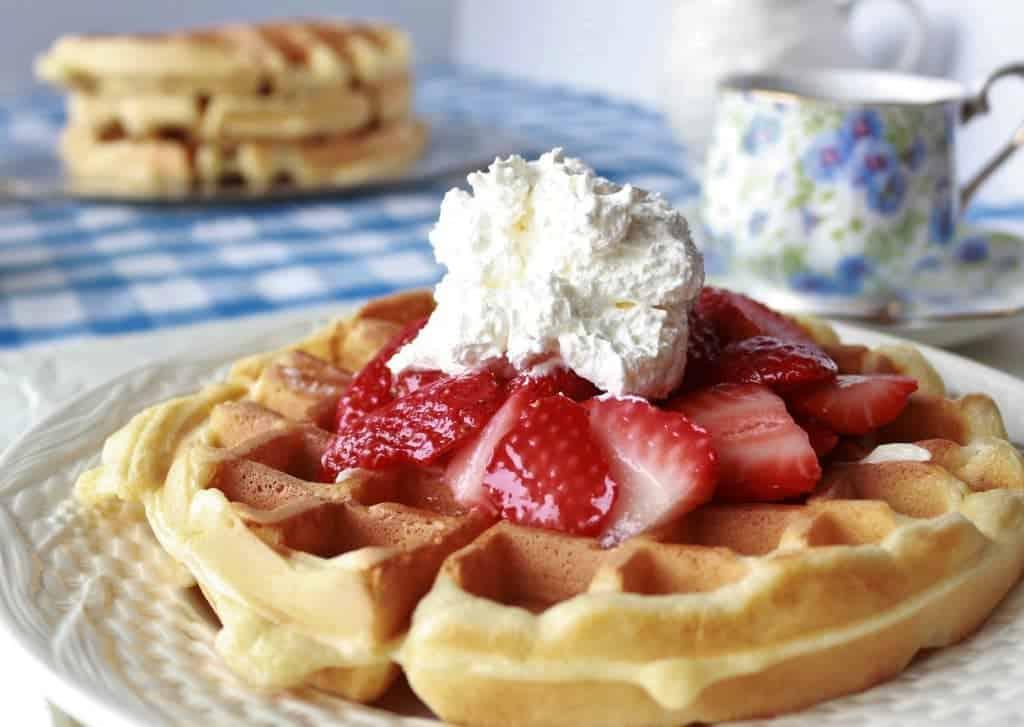 Crispylight waffles