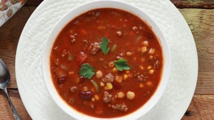 Taco Soup in crock pot or instant pot