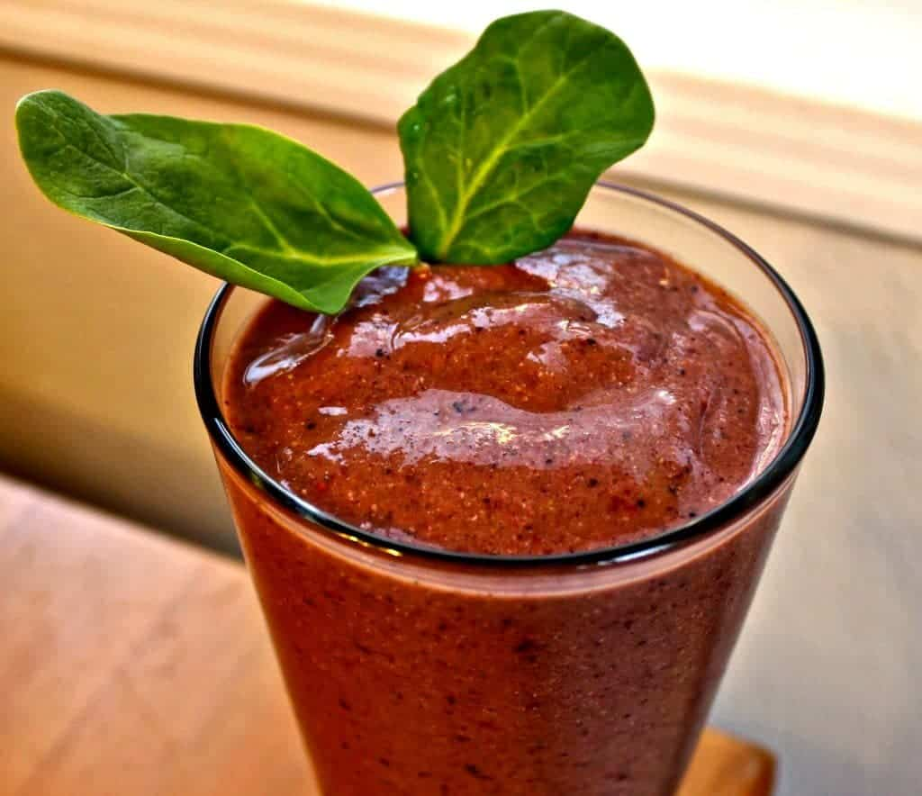Nutritious Breakfast Smoothie Balanced, High-​Fiber, Low-​Sodium, Vegetarian, Gluten-​Free by homemadefoodjunkie.com