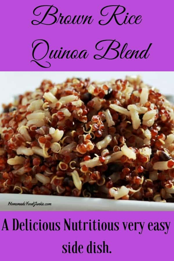 Brown Rice Quinoa Blend is full of protein and healthy high fiber carbs. Family favorite! #brownricerecipe #quinoarecipe #healthyrecipe #healthyfood