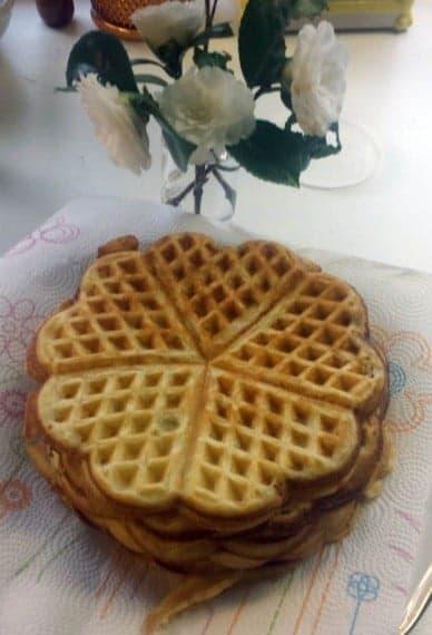Five heart waffles