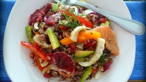 Healthy Wild Rice And Citrus Salad