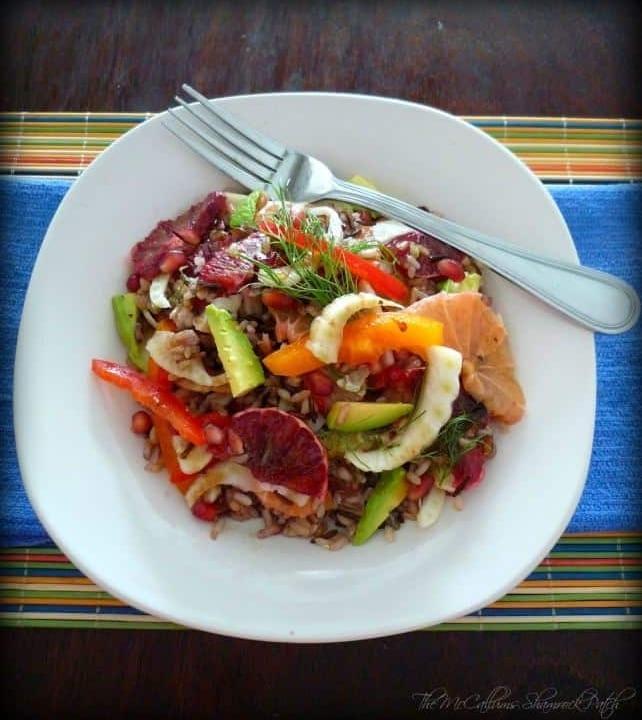 Healthy Wild Rice And Citrus Salad