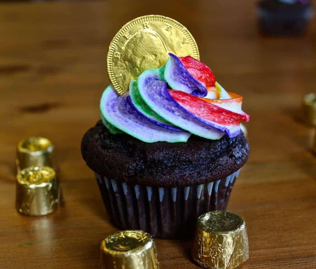 Rainbow Cupcakes for St Patricks Day