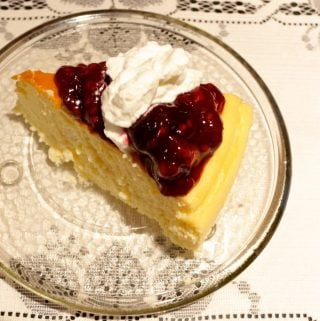 gluten free crustless New York cheesecake