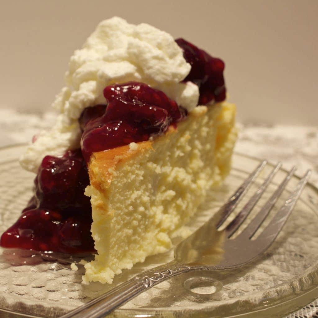Crustless New York Cheesecake Homemade Food Junkie