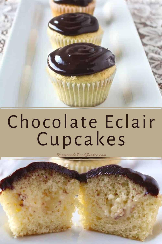 Chocolate Eclair Cupcakes-pin image