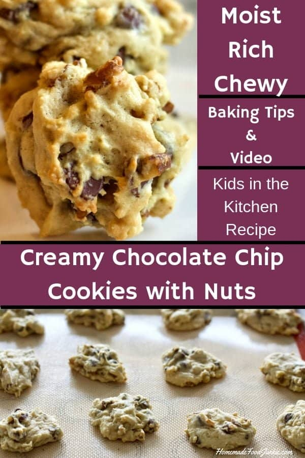 Creamy Chocolate Chip Cookies with Nuts