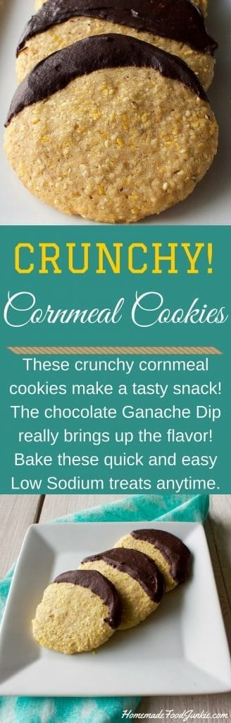 Crunchy Cornmeal Cookies so quick and easy. Make them for a party tray! http://homemadeFoodjunkie.com