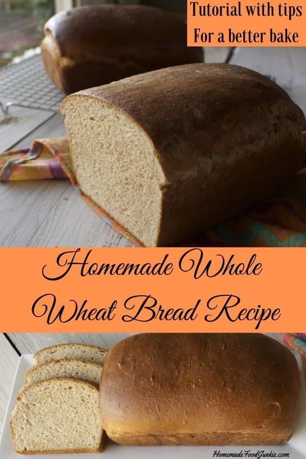 Homemade Whole Wheat Bread Recipe Tutorial
