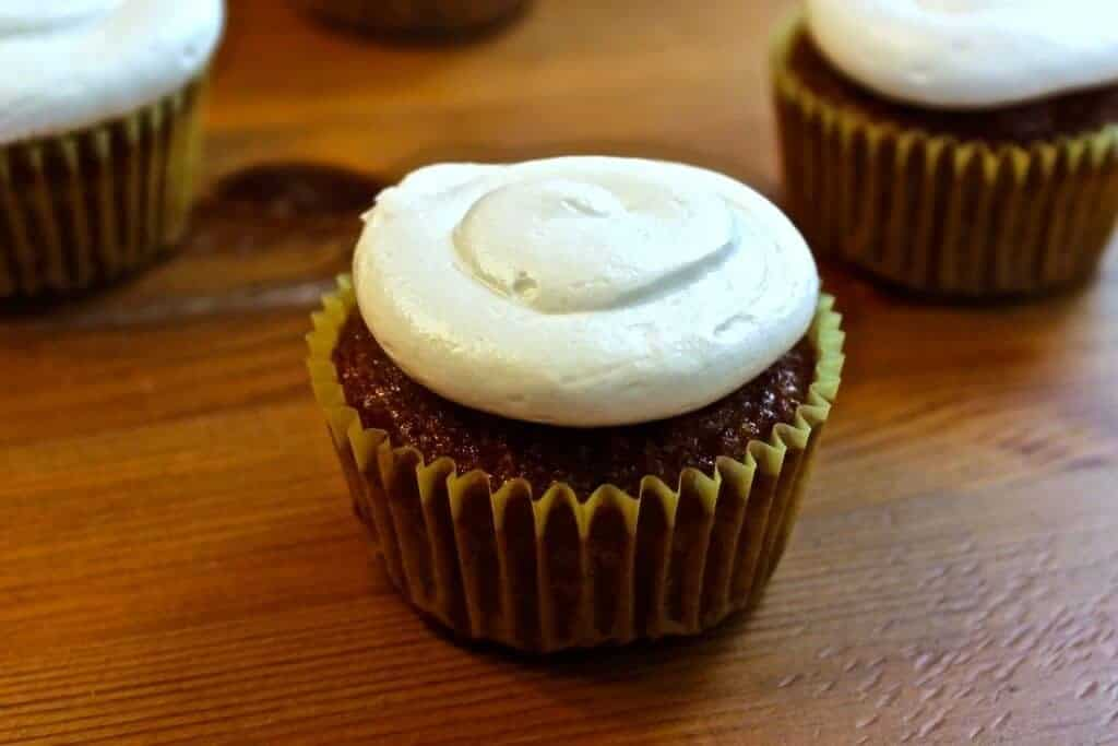 Gourmet Carrot Cake Cupcakes a delicious recipe by Ad Hoc's Tomas Keller! Http://HomemadeFoodJunkie.com