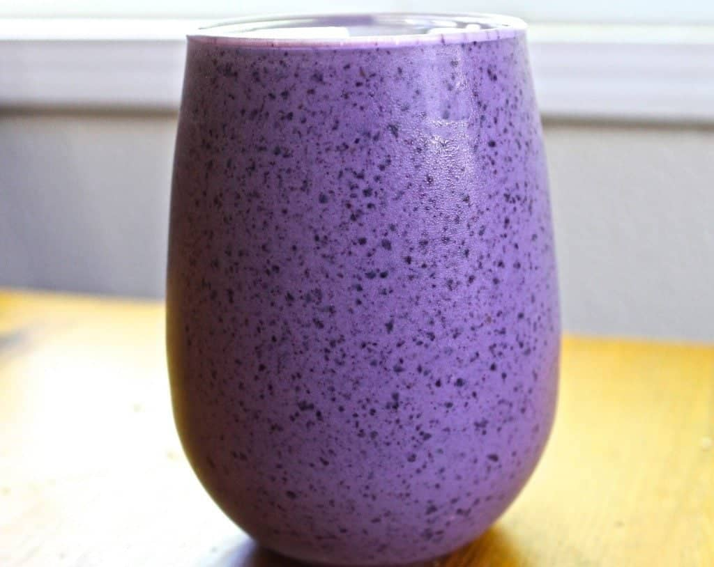 Blueberry Banana Smoothie full of excellent nutrients to support your health! www.HomemadeFoodJunkie.com