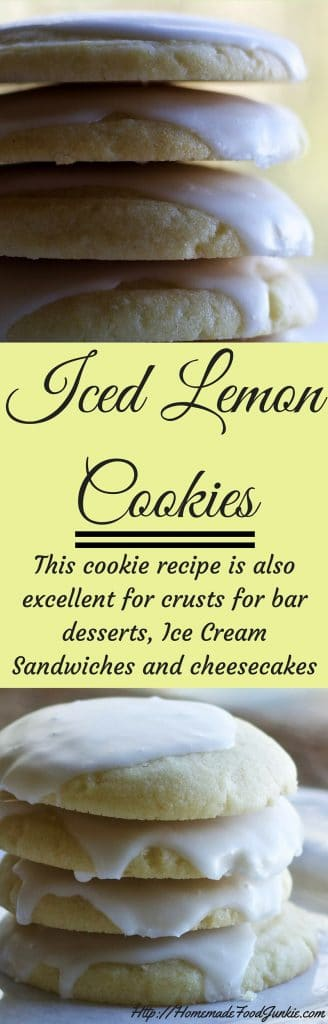 Iced Lemon cookies An excellent recipe for dessert crusts and ice cream sandwiches. Also yummy iced cookies! Low-​Sodium, Vegetarian, Dairy-​Free http://HomemadeFoodJunkie.com