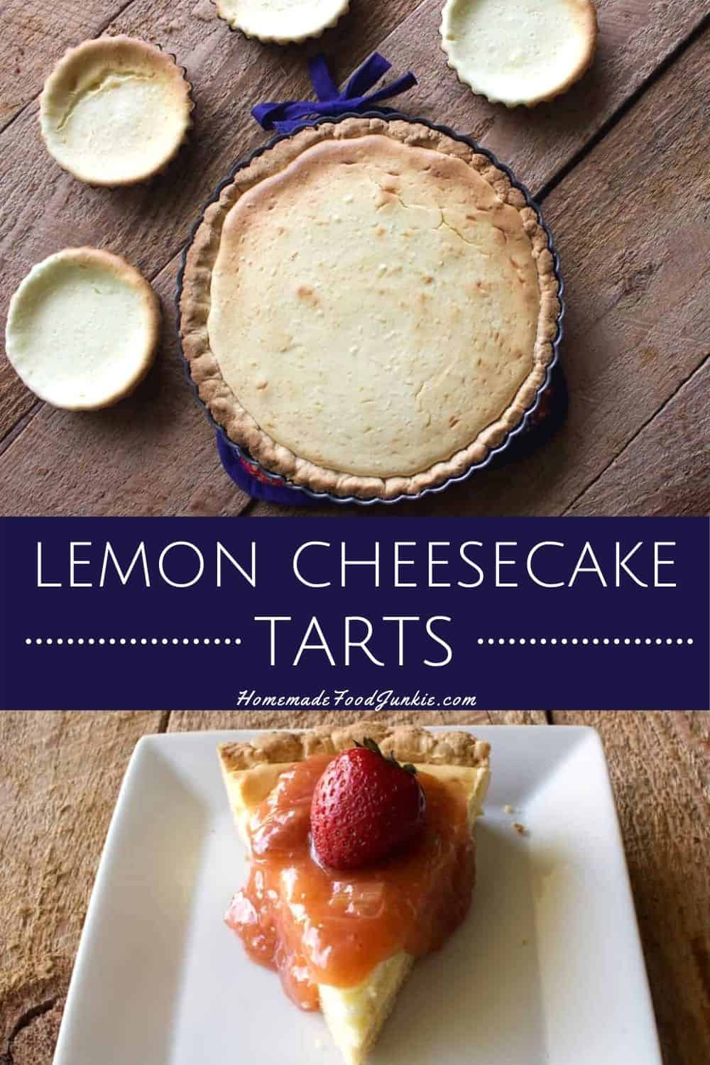 Lemon Cheesecake Tarts-pin image