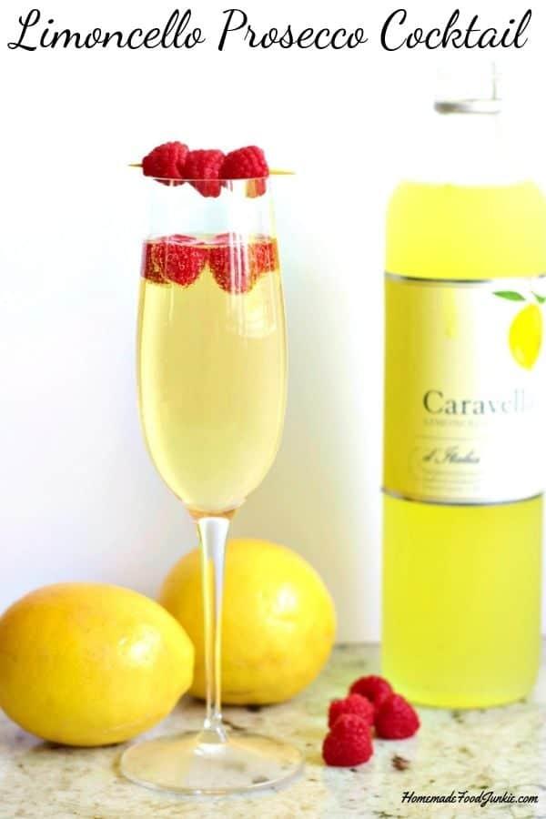 Limoncello Prosecco Cocktail Pin