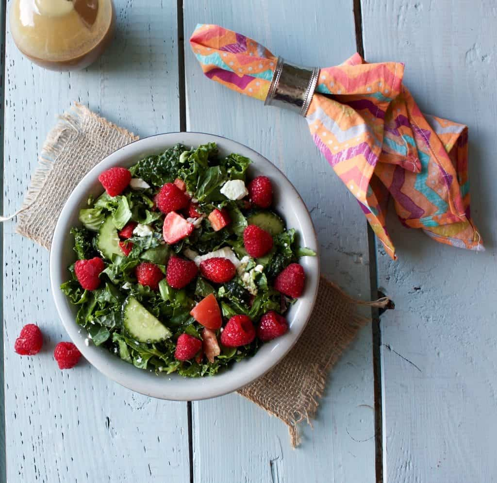Spring Garden Berry Salad Makes A Lovely Presentation At Table. This Beautiful Salad Is Versatile; Welcoming Your Creative Additions Of Various Spring Greens, Nuts And Cheeses. Http://Homemadefoodjunkie.com