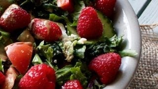 Garden Berry Salad with Creamy Balsamic Dressing