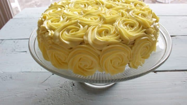 Lovely Lemon Rose Cake