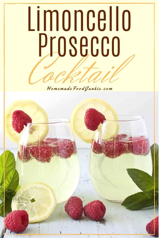 Limoncello Prosecco Cocktail-pin image