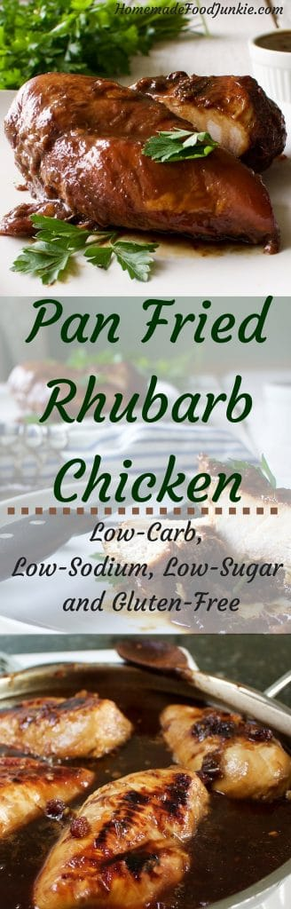 Pan Fried Rhubarb Chicken Healthy, delicious and so Easy! by HomemadeFoodJunkie.com