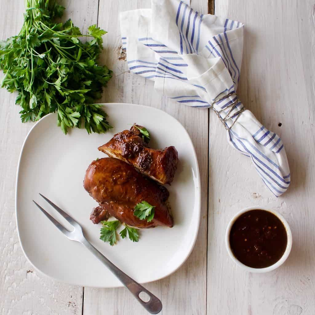 Pan Fried Rhubarb Chicken Is So Good! Who Needs A Fancy Restaurant? This Simple, Healthy Meal Makes Chicken Into Something Special!