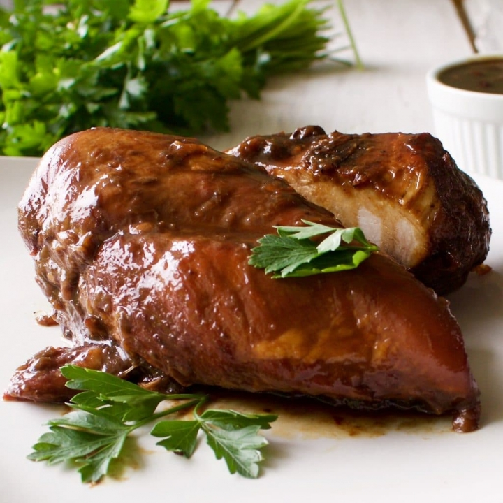 Pan fried Rhubarb chicken
