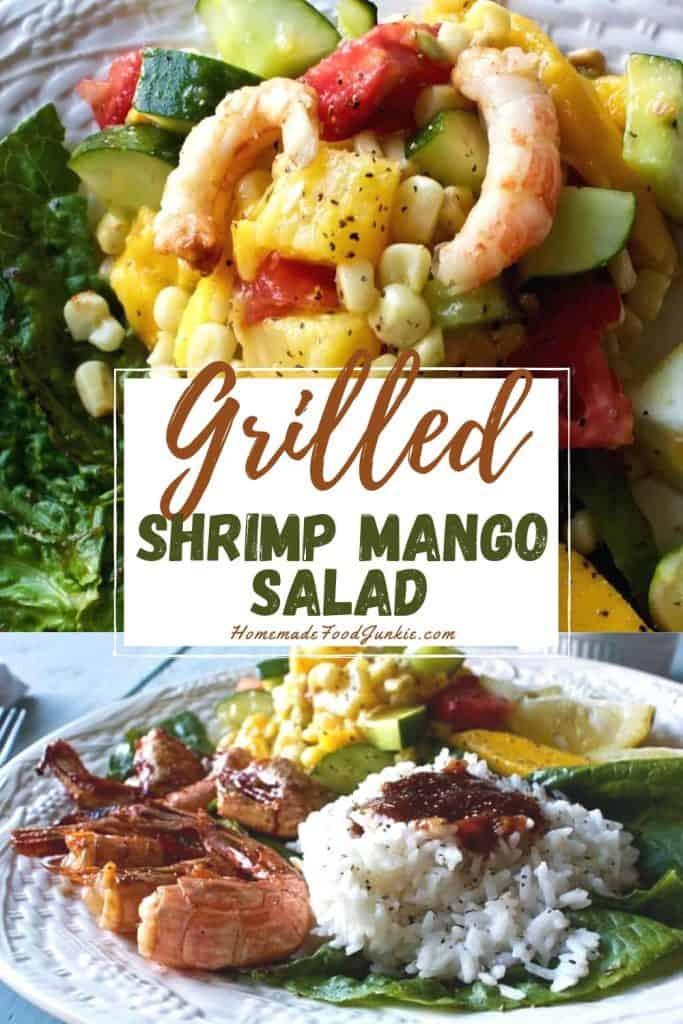 Grilled shrimp mango salad-pin image