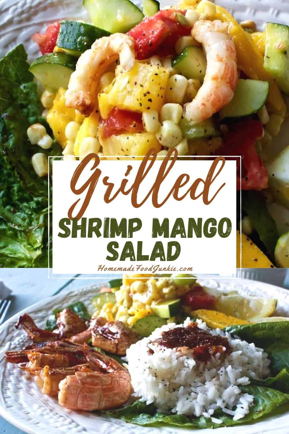 Grilled shrimp mango salad-pin image