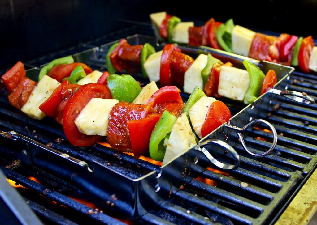 Grilled Shark Kabobs Grilled Salmon Kabobs