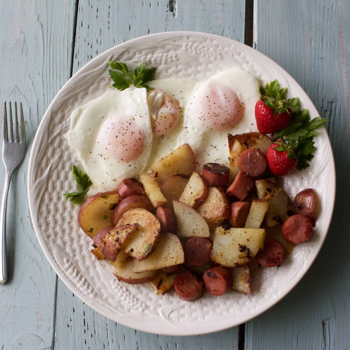 Fried Potatoes and Eggs